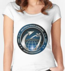 Space Command's 25th Anniversary Logo Women's Fitted Scoop T-Shirt
