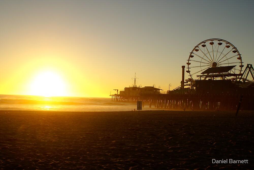 Sunset at Santa Monica pier  by Daniel Barnett