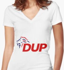 Democratic Unionist Party Logo Women's Fitted V-Neck T-Shirt