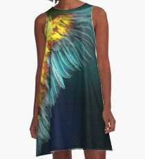 Wing of the Falling A-Line Dress