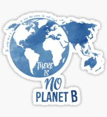 There Is No Planet B - Blue Sticker