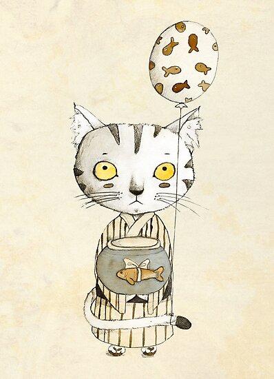Birthday Cat by Judith Loske