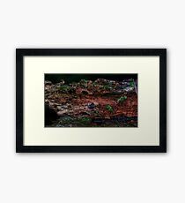 Dried-up River bed  Framed Print