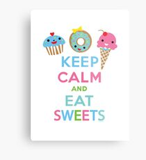 Keep Calm and Eat Sweets      Metal Print