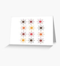 Earth Tone Suns Pattern Greeting Card