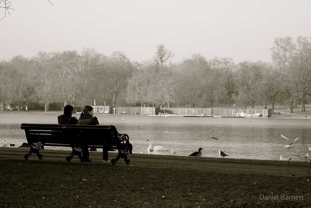 A moment by the Serpentine in Hyde Park, London by Daniel Barnett