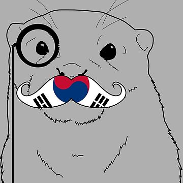 Mustache Flag South Korea by otterglot