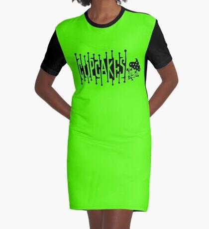 Retro Cupcakes - black Graphic T-Shirt Dress