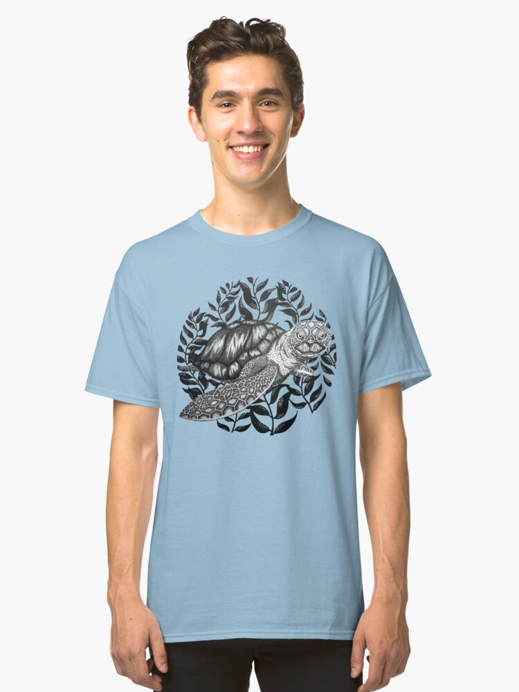 Swimming Sea Turtle Classic T-Shirt Front