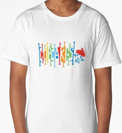 Retro Cupcakes - on lights Long T-Shirt