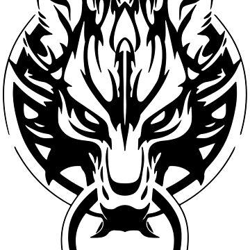Final Fantasy Fenrir Wolf by RedXIV