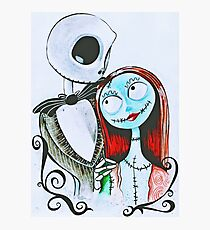 Nightmare Before Christmas Jack and Sally Photographic Print