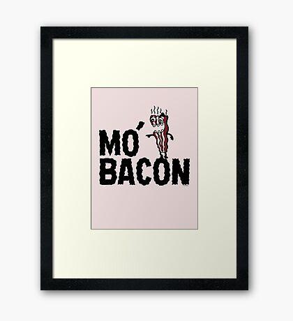 MO' BACON on lights Framed Print