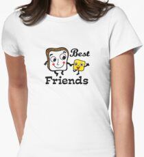 """Bread and Butter """"Best Friends""""  Women's Fitted T-Shirt"""