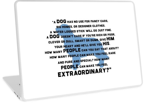 Marley Me Dog Quote Laptop Skins By Quotation Park Redbubble