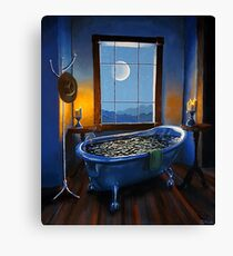 """Blue Bath and Beyond"" Canvas Print"