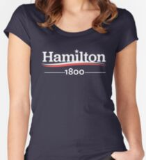 ALEXANDER HAMILTON 1800 Burr Election of 1800 Women's Fitted Scoop T-Shirt