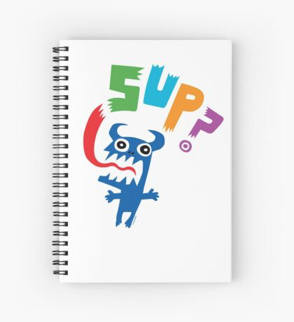 Sup? light colors Spiral Notebook