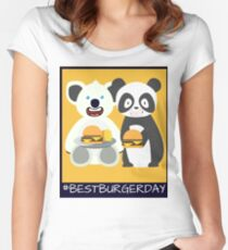 Panda and Koala #BestBurgerDay Women's Fitted Scoop T-Shirt