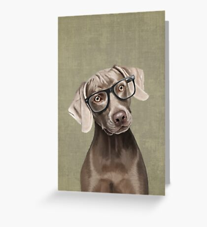 Mr Weimaraner Greeting Card