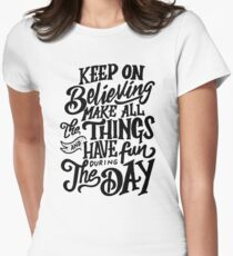 Adrian Bliss - Make All The Things Womens Fitted T-Shirt
