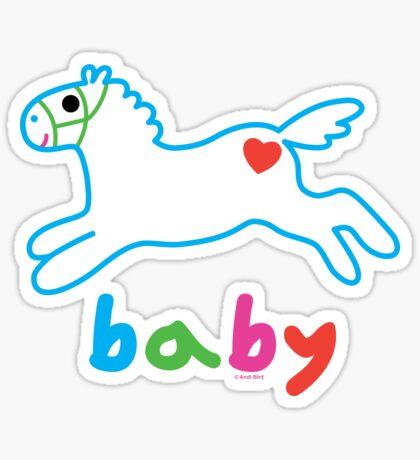 Baby pony t shirt & onsie Sticker