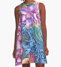 Orchid Splash A-Line Dress