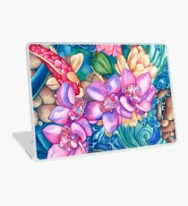 Orchid Splash Laptop Skin
