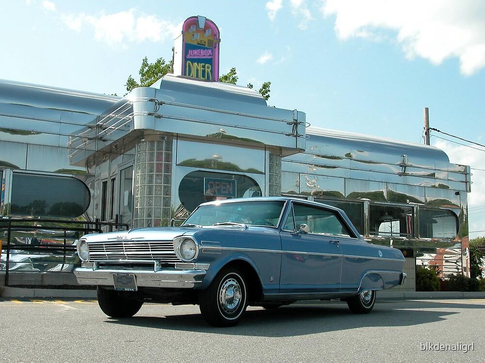 1962 Nova in front of Diner by blkdenaligrl