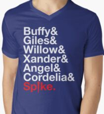 BUFFY THE VAMPIRE SLAYER AND SCOOBY GANG Mens V-Neck T-Shirt