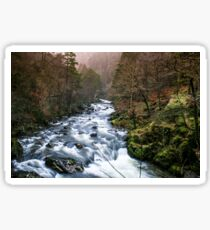 Autumn Falls - Afon Glaslyn River Sticker