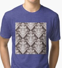 Damask Seamless Pattern Tri-blend T-Shirt