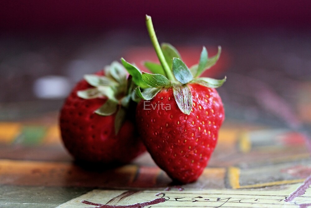 Strawberries -Still Life by Evita