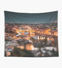 ponte vecchio on the night Wall Tapestry