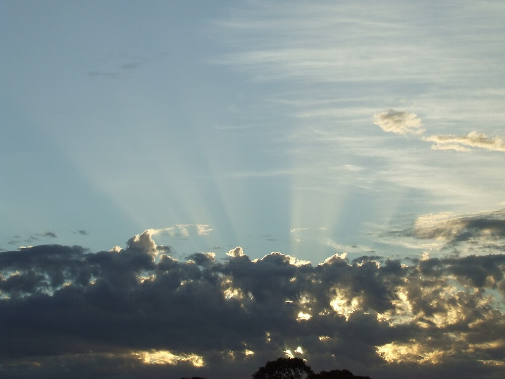 sky rays  by wend