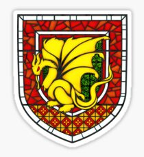 Stained Glass Pendragon Crest Sticker