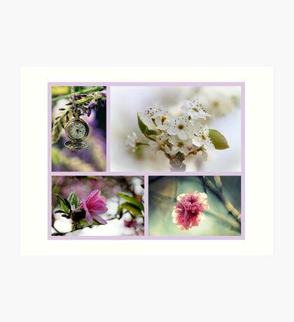 Impressionen des Frühlings Kunstdruck