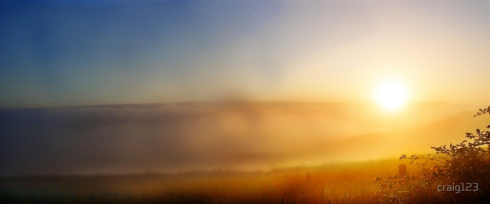 Sun rise in the clouds by craig123
