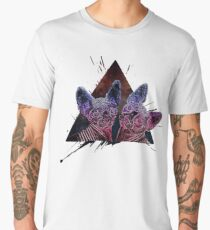Psychedelic Astro Cat  Men's Premium T-Shirt