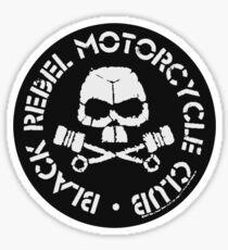Black Rebel Motorcycle Club • BRMC • White Circle Sticker