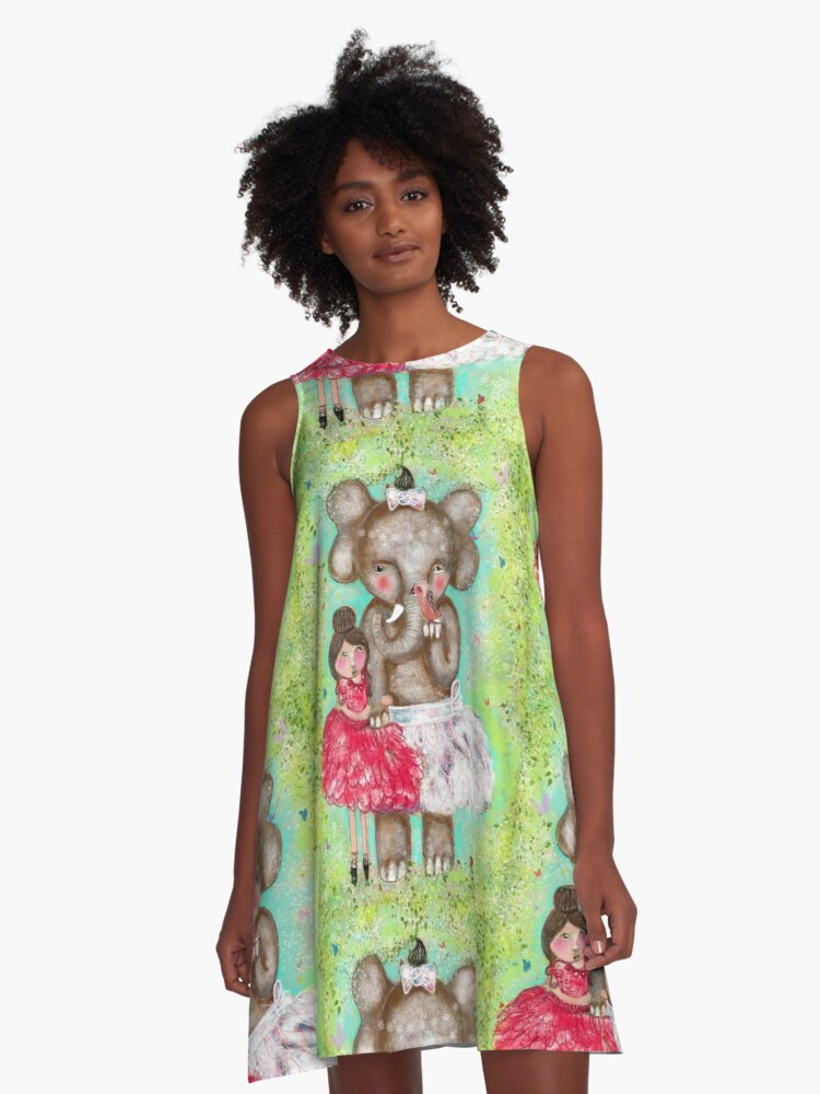 The Bird Told Us - By Beatrice Ajayi A-Line Dress Front