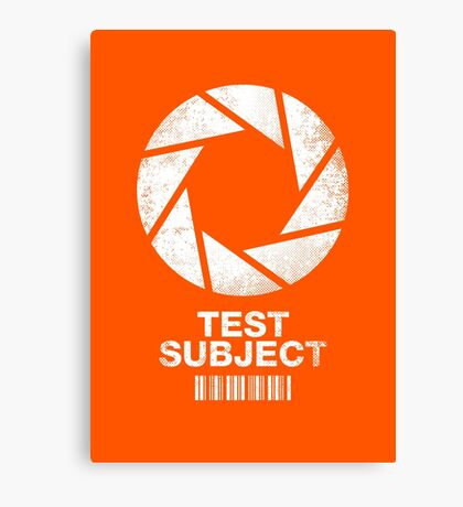 Test Subject Canvas Print