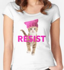 Resistance Kitten Women's Fitted Scoop T-Shirt