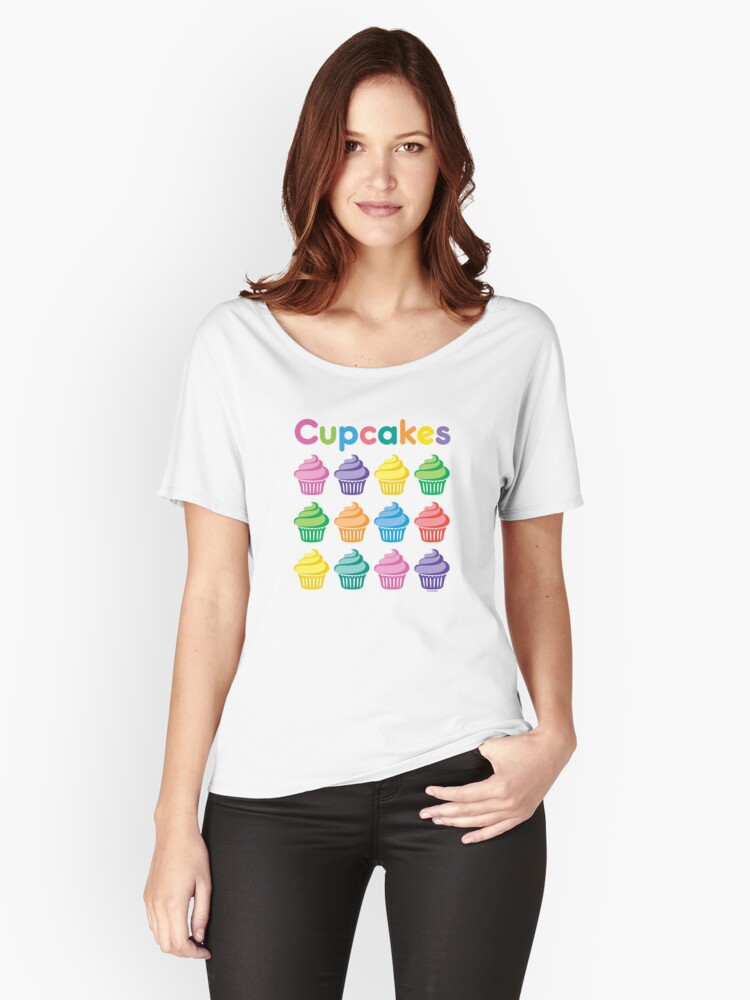 Cupcakes Pretty Women's Relaxed Fit T-Shirt Front