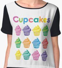 Cupcakes Pretty Women's Chiffon Top