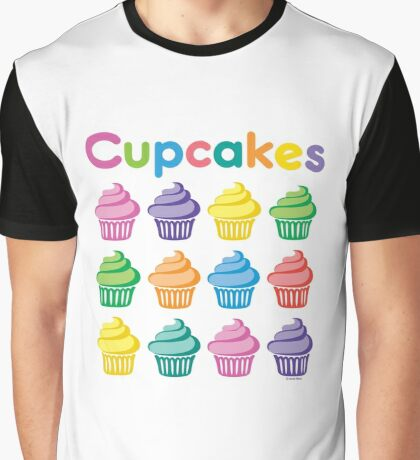 Cupcakes Pretty Graphic T-Shirt