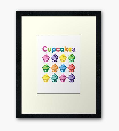 Cupcakes Pretty Framed Print