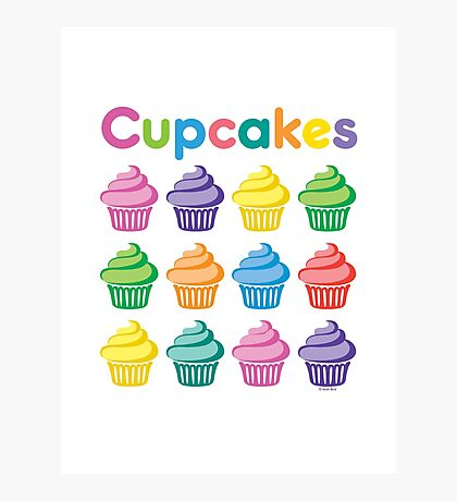 Cupcakes Pretty Photographic Print