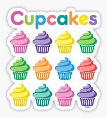 Cupcakes Pretty Sticker