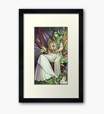 Queen of Pentacles Framed Print
